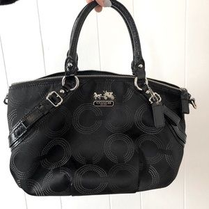 Coach Madison Dotted Op Art Large Sophia Satchel